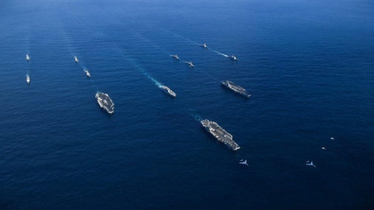 Hace 10 años que este tipo de portaaviones no forman parte de esta clase de ejercicios(Reuters)
