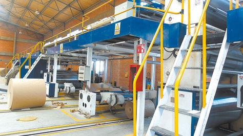 Una vista de la planta de Cartonbol, en Oruro. El Gobierno prevé unirla a Papelbol.