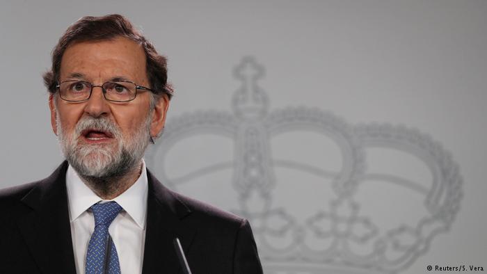 Spanien PK Ministerpräsident Mariano Rajoy in Madrid (Reuters/S. Vera)
