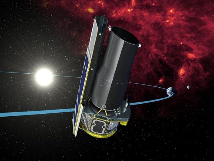 Una representación artística del telescopio Spitzer, que registró el descubrimiento. (Wikipedia)