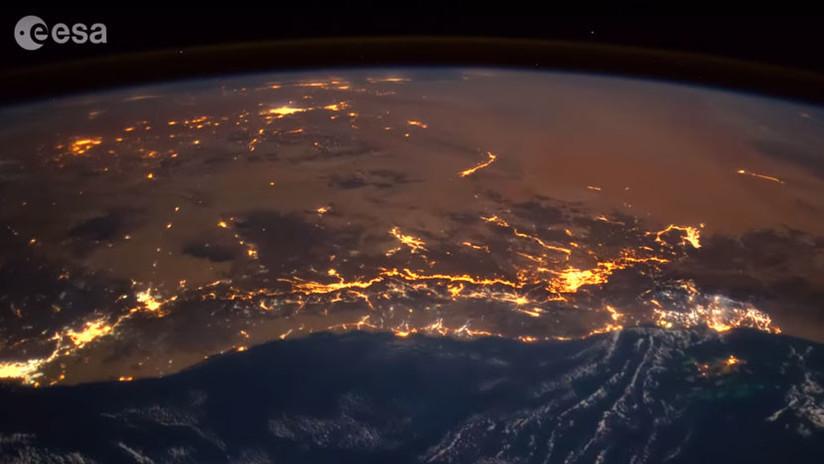 Astronauta grabó una bola de fuego cayendo sobre la Tierra