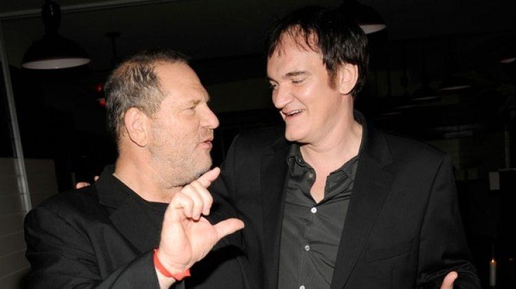Weinsten y Tarantino, quien confesó no haber hecho lo suficiente para denunciar a Weinstein (Getty Images)