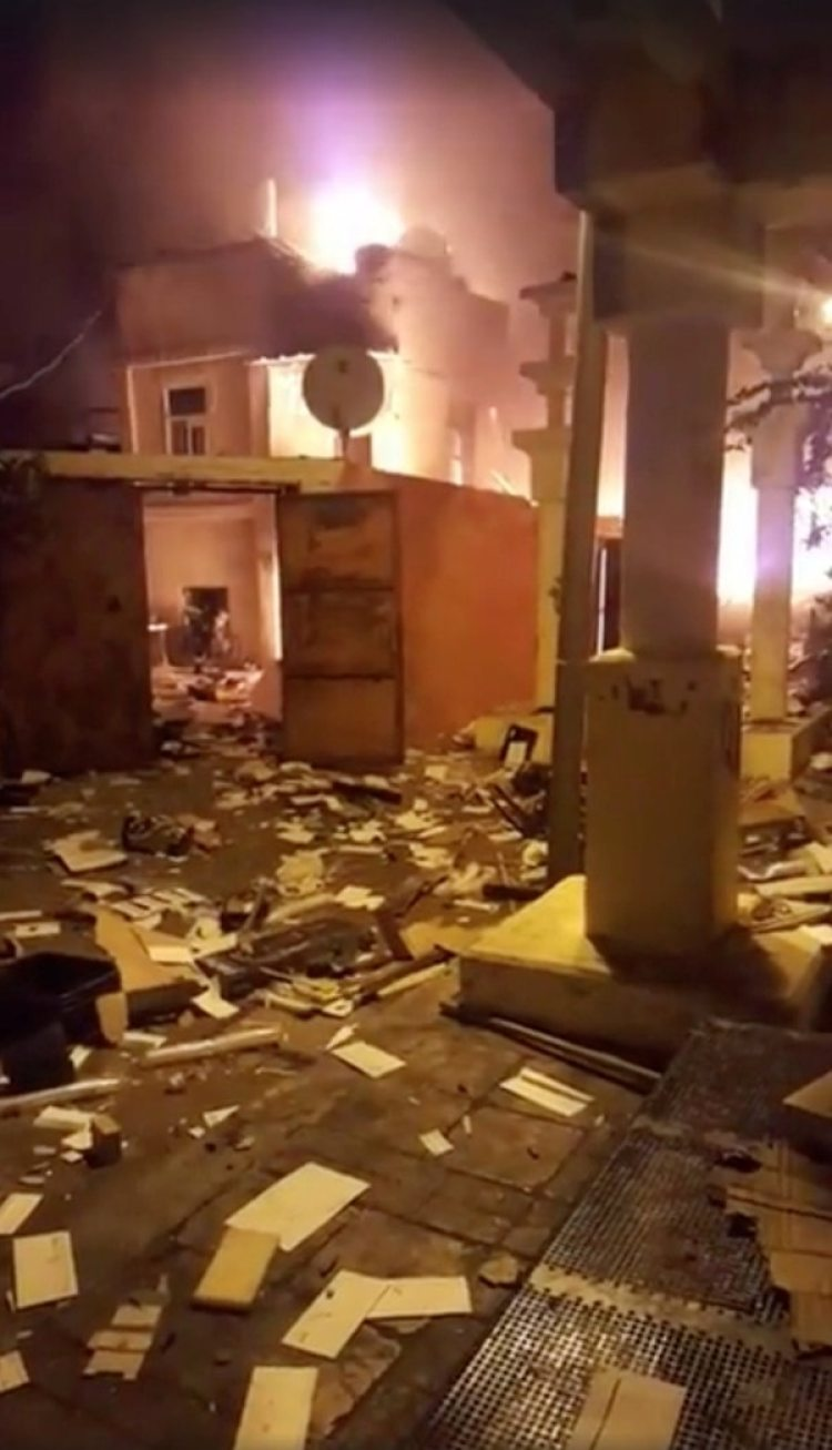 Así quedó el edificio tras la explosión (Hila Shirazy/via REUTERS)