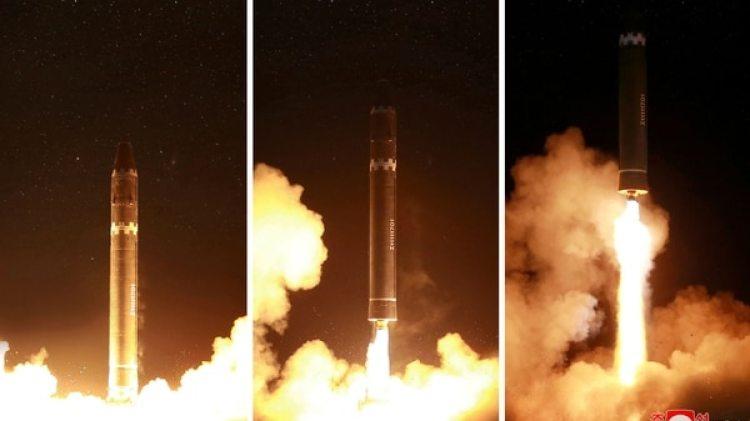 Imágenes aportadas por el régimen norcoreano sobre el lanzamiento del Hwasong-15