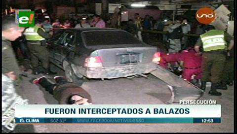 Santa Cruz: Policía detiene a cuatro delincuentes tras una balacera, dos están heridos