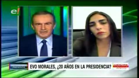 """Repostulación de Evo: Gabriela Montaño y su """"sopa de letras"""" en CNN"""