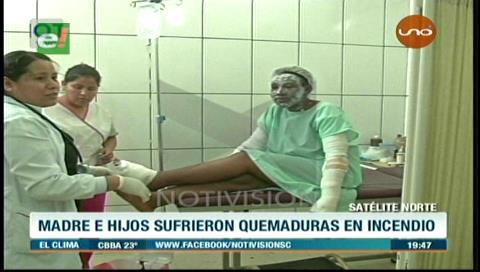 Satélite Norte: Familia queda con graves quemaduras tras explosión de garrafa