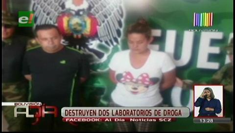 Hallan laboratorio de droga y cae pareja de colombianos
