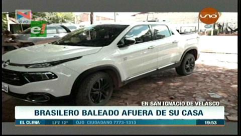 Ganadero brasileño fue baleado en San Ignacio