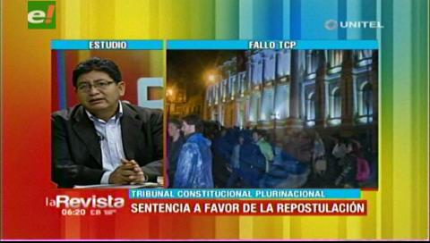 Diputado Montaño admite que organizaciones internacionales pueden revertir fallo del TCP