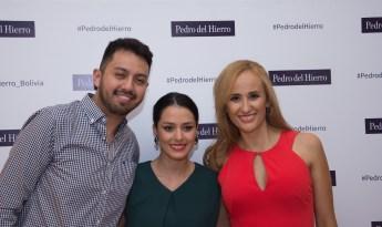Oscar Olguin, Lucía Asin y Scarlet Benavidez