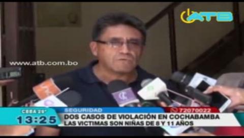 Se registran dos casos de violación en Cochabamba