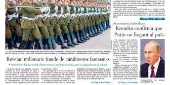 Portadas de periódicos de Bolivia del viernes 17 de noviembre de 2017