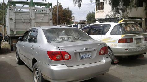 Vehículos retenidos por no portar permiso de circulación en Cochabamba. Foto:Fernando Cartagena