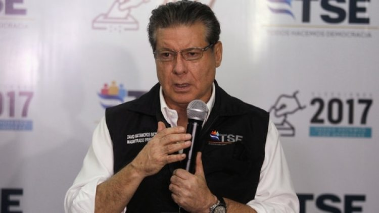David Matamoros, presidente del Tribunal Supremo Electoral (TSE).