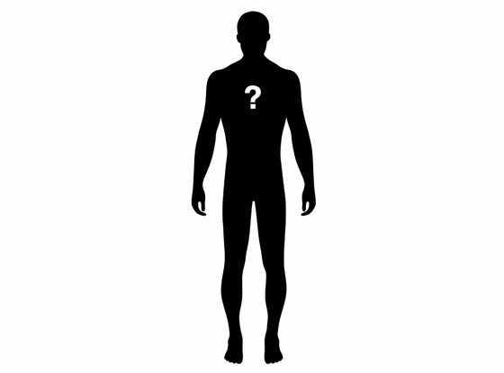 Question Mark Silhouette, Male