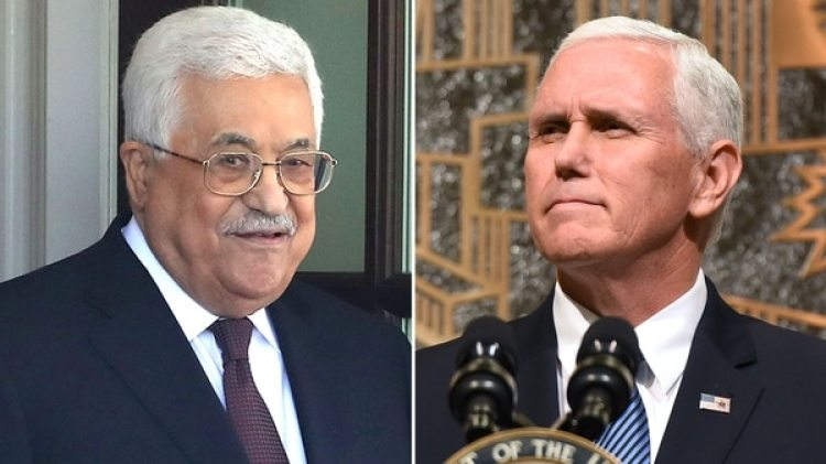 Mahmud Abbas y Mike Pence (Getty Images)