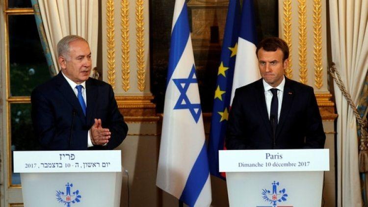 Benjamin Netanyahu se reunió en París con Emmanuel Macron (Reuters)