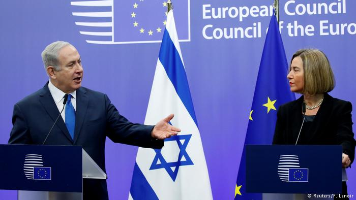 Benjamín Netanyahu y Federica Mogherini.