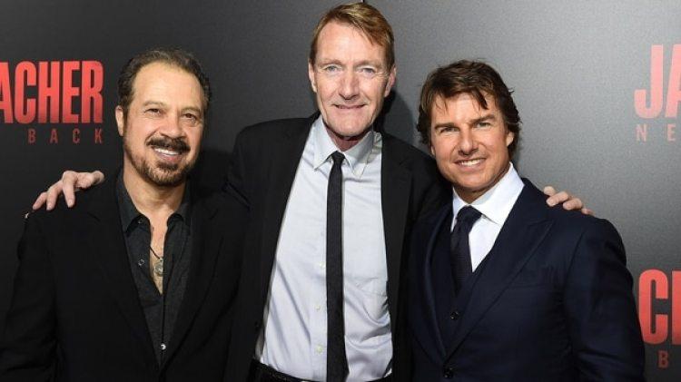 El director Edward Zwick, el escritor Lee Child y el actor Tom Cruise (Getty Images)