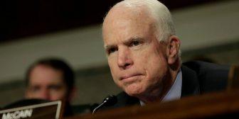 Por su enfermedad, el senador John McCain se perderá la votación de la reforma fiscal de Estados Unidos