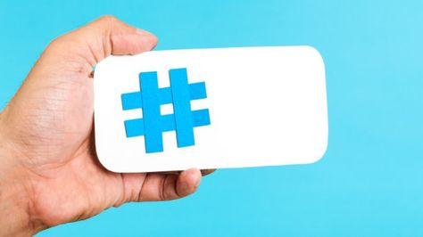 El símbolo de numeral se usa en Twitter para etiquetar la información.