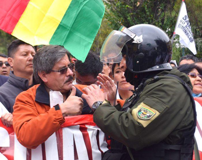 WALDO ALBARRACÍN EN LA MARCHA.