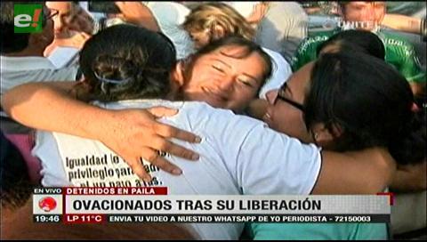 Detenidos en Pailas fueron ovacionados tras su liberación