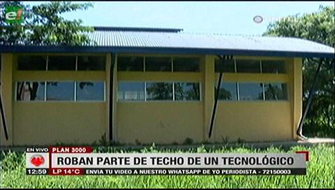 Indignación en el Plan Tres Mil por robo del techo del Tecnológico Andrés Ibáñez
