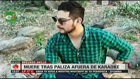 Santa Cruz: Joven muere tras paliza afuera de un karoke, Policía identificó al asesino