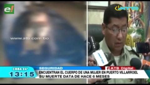 Encuentran el cadáver de una mujer en Puerto Villarroel