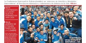Portadas de periódicos de Bolivia del lunes 11 de diciembre de 2017