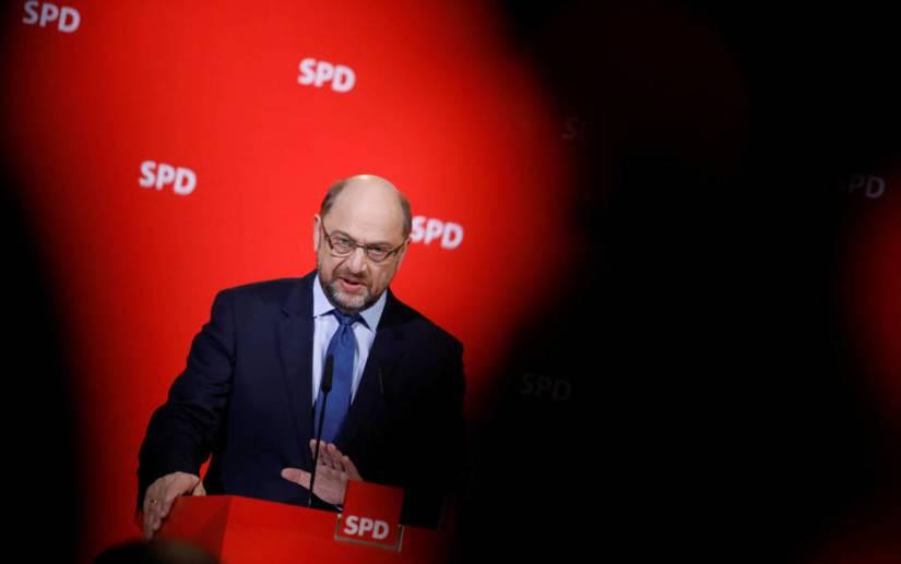 Martin Schulz durante una comparecencia en la sede del SPD, en Berlín. (EFE)