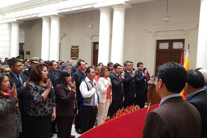 """Evo posesiona a nuevas autoridades judiciales y les dice que tienen """"mucha legitimidad"""""""