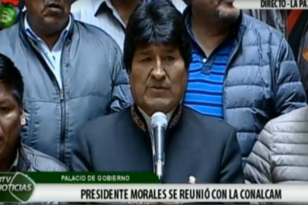 Morales cede y decide derogar el artículo 205 del Código Penal
