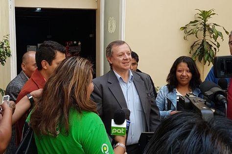El presidente del Senado, José Alberto Gonzales, en la rueda de prensa de este viernes.