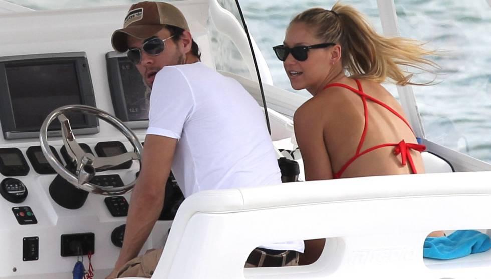Enrique Iglesias y Anna Kournikova, en Miami.