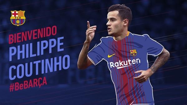 Philippe Coutinho, nuevo jugador del FC Barcelona — Fichaje millonario