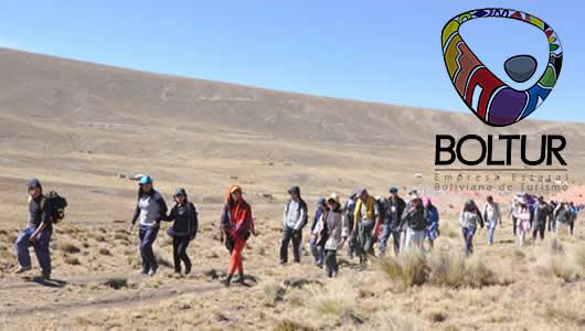 Empresa Estatal Boliviana de Turismo (Boltur) recorrido de la ruta Qhutaña