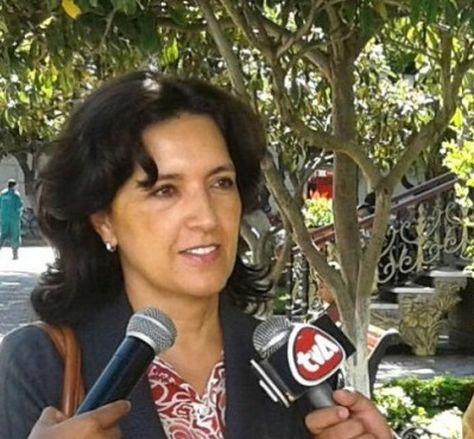La presidenta del Colegio de Abogados de Bolivia, María Isabel Moreno.