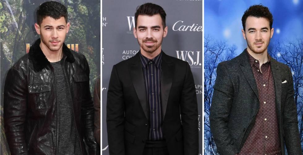 De izquierda a derecha: los hermanos Nick, Joe y Kevin Jonas.