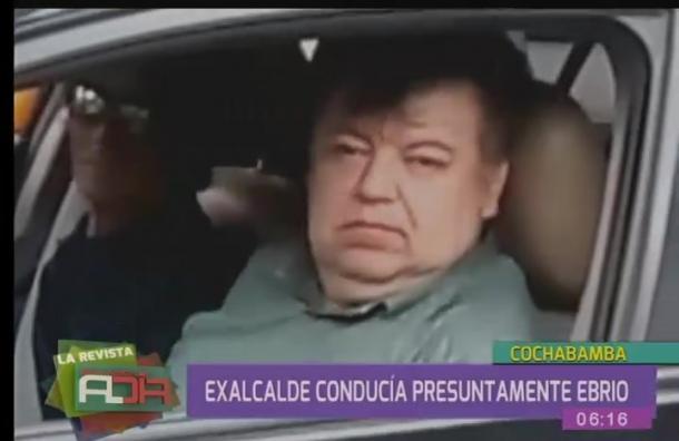 Exalcalde Castellanos es abucheado por cochabambinos por conducir ebrio
