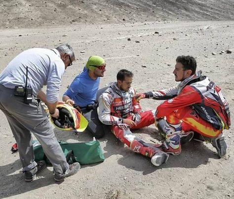 El piloto boliviano Walter Nosiglia junior, el momento en que sufrió la caída