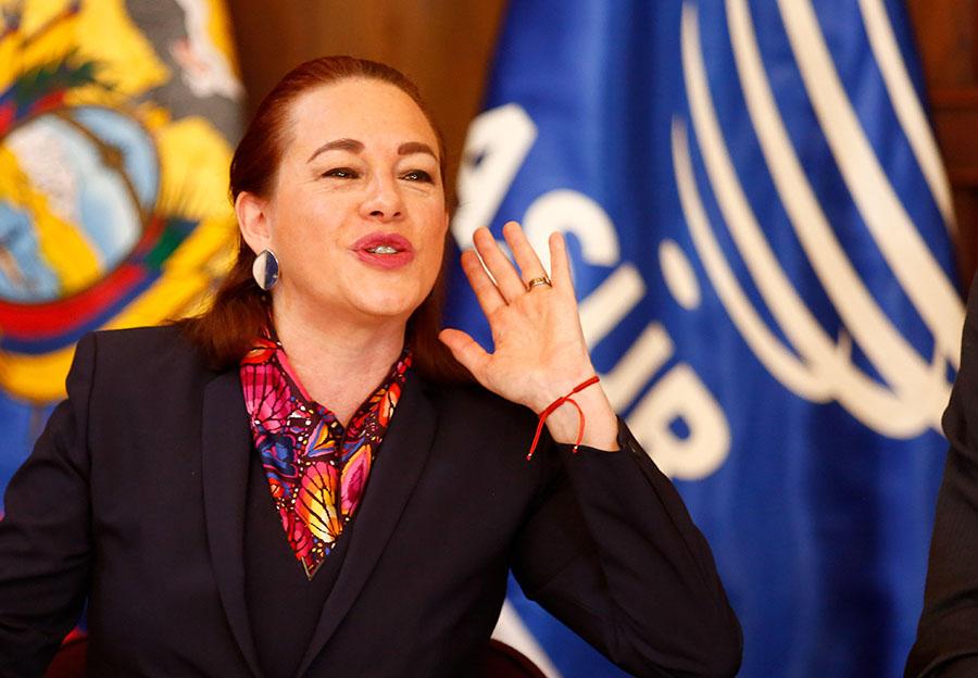 María Fernanda Espinosa, canciller de Ecuador. EFE/END