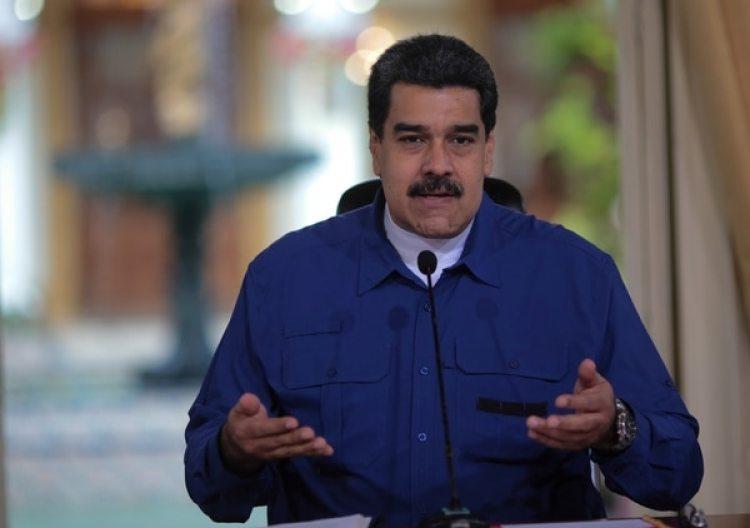 El presidente venezolano Nicolás Maduro durante un discurso en el Palacio de Miraflores en Caracas (Palacio de Miraflores via Reuters)