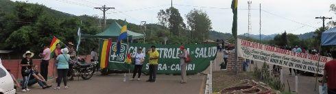 En Camiri hay bloqueo de la carretera