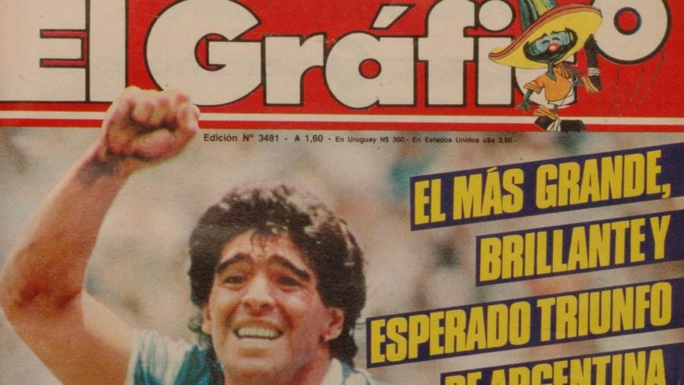 Una tapa histórica: cuando la selección argentina le ganó a Inglaterra en México 1986