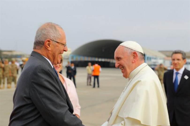 El Sumo Pontífice ya se encuentra en la tierra de Pedro Pablo Kuczynski para continuar su gira