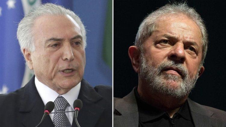 Michel Temer y Lula da Silva (AP)