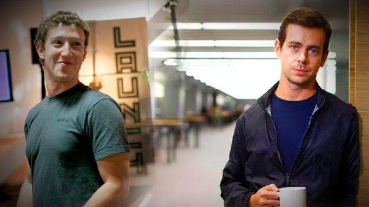 Mark Zuckerberg y Jack Dorsey